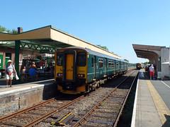 150202 Okehampton (5) (Marky7890) Tags: gwr 150202 class150 sprinter 2j05 okehampton railway devon dartmoorrailway train