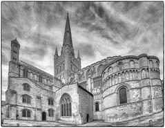 Norwich cathedral (Mirrorless for me) Tags: norwich cathedral anglican holy religion monochrome lightroom photoshop adobe silverefexpro2 nikplugins samyang samyangfisheye processing