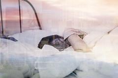 sleeping in the city (https://tinyurl.com/jsebouvi) Tags: dormirdanslaville femme lit sommeil rêve fenêtre cheveux blanc architecture rue allongé dormir