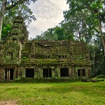 Small building at the entrance to Preah Khan temple ruins in Angkor Archeological Park near Siem Reap, Cambodia thumbnail