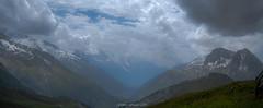 Douce Vallée (Frédéric Fossard) Tags: glacier vallée valley mountain landscape sky clouds nuages alpage alpes hautesavoie cimes crêtes arêtes mountainrange mountainridges valléedechamonix altitude atmosphère calme nature sauvage texture hautemontagne vallon herbe
