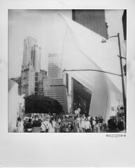 The Oculus (Kechagiar) Tags: analog polaroid kcgr sx70 slr herinstantmajesty bw impossibleproject newyork nyc usa oculus groundzero santiago calatrava