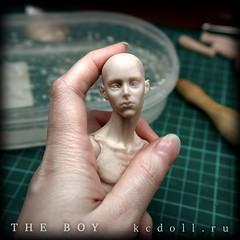 The_Boy_KCDoll_WIP_001 (kularien) Tags: kcdoll kulariencustomdoll bjd balljointeddoll tinybjd wip sculpting sculpture boy ooak artistdoll artistbjd
