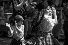 Two Hands Clapping (Photo Oleo) Tags: toronto candid event portuguese blackandwhite clapping street cultural costume parade portugalday