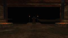 The Boatman #1 (BarricadeCaptures) Tags: kingsquest kingsquestmaskofeternity maskofeternity dimensionofdeath theboatman boatman skeleton riverofdeath flames torches gamescreenshots gamephotography videogame screencapture screenshot