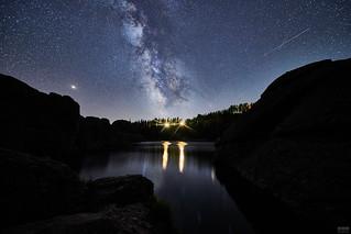 Milky Way and Meteors over Sylvan Lake
