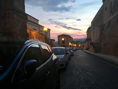 Noto (ADMurr) Tags: sky cloud leadingline cars cobbles iphone sundown street noto sicilia sicily italia italy