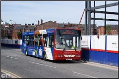 Warrington's Own Buses - DK07 EZL (3) (Tf91) Tags: warrington warringtonboroughtransport networkwarrington warringtonsownbuses warringtonmarket wright cadet wrightcadet dk07ezl 75 disability awareness