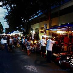 "Chiang Mai Markets.  (ตลาดเชียงใหม่) (ol'pete) Tags: chiangmai markets evening nightmarkets เชียงใหม่ ตลาด street ถนน ประเทศไทย thailand เมืองไทย •""powershot260hs"" people shoppers traders bricabrac crafts artwork fashion ethnic earthasia"