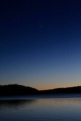 Twilight in clear sky as Mars can be seen (daveynin) Tags: lake caldera newberry nps oregon clear sky star mars