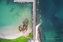 Lucky 7 (Kyle TKT) Tags: drone harbour pier boats beach sand sea 7 ballywalter northernireland