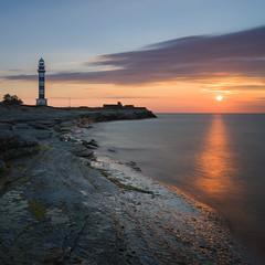 DSC7152 (Tanel Kindsigo) Tags: estonia odensholm osmussaar clouds evening lighthouse outdoor rocks sea sky stones summer sunset