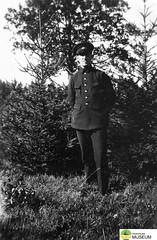tm_4786 - Malmslätt, Östergötland 1942 (Tidaholms Museum) Tags: svartvit positiv militäruniform porträtt människa soldat malmslätt östergötland 1942