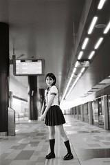 ILFORD DELTA 400 (3) (Waynegraphy) Tags: waynegraphy waynelee nikon nikonf3 50mmf18d 50mm ilford ilforddelta film 35mm malaysia girl ladies blackandwhite