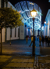 Streetlight / Farola (López Pablo) Tags: street streetlight christmas lalaguna tenerife canaryislands spain night