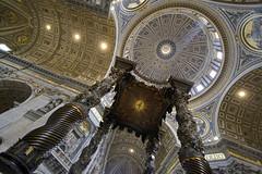 Basilica of Saint Peter (albireo 2006) Tags: rome roma bernini vatican vaticano sanpietro basilicadisanpietro stpetersbasilica basiliaofstpeter baldacchin dome
