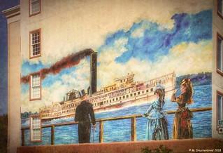 Mural on a Condominium Building at Colonial Beach Virginia
