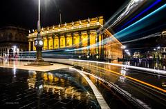 Grand Théâtre - Bordeaux (alexring) Tags: grandthéâtre grandtheater bordeaux france tram rainy night lighttrails longexposure nikon d750 alexring