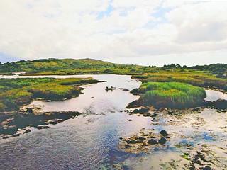 Irlande, les étangs dans le Connemara