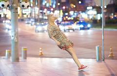 Falling (Zavarykin Sergey) Tags: stun levitation falling girl flying city night life dress cute fashion street photo photography szfilmmaker zavarykin kiev kyiv lights bokeh samyang walimex rokinon 85mm f14 sony a7sm2 a7sii dangerous lifestyle bored tired stress