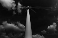 12B (Tom Putzke) Tags: energiegewinnung windkraft windrad mehrfachbelichtung schwarz weiss wolken clouds himmel sky wetter luft air monochrom einfarbig black white
