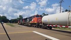 Southbound Tanks... (Josh Rich (boysquadxyz)) Tags: 2018 ge generalelectric electromotivediesel emd locomotives train canadiannationalrailway canadiannational cn cnr es44dc sd60