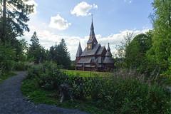 Stabkirche Hahnenklee (michaelmueller410) Tags: stave church kirche harz stabkirche liebesbankweg oberharz goslar gebäude wolken clouds trees bäume weg way path