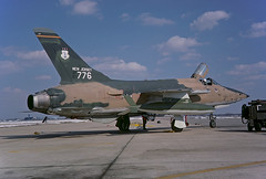 F-105B Thunderchief 57-5776 of the 141st TFS/108th TFW New Jersey ANG (JimLeslie33) Tags: republic f105 f105b new jersey ang air national guard 575776 usaf mcguire afb olympus om1 141 141st tfw 108 108th tfs