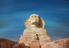 The Sphinx Across Time (Stuck in Customs) Tags: cairo egypt stuckincustomscom treyratcliff sphinx hdr hdrtutorial hdrphotography hdrphoto aurorahdr sand desert sculpture egyptian