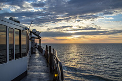 Sunset over Lake Michigan (conrail6809) Tags: ss badger co car ferry lake michigan mi clouds