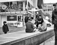 Interact (viceversa62) Tags: blackandwhite bnw bw blackwhite bnwphotography bnwsoul bnwstreetscene monochrome street streetphotography streetscene scene streetlife reportage d3200 documentary documentaryphotography lensculture life lensculturestreet people peoplewatching photography nikon noir noiretblanc netherlands noirlovers rotterdam c b d e f g h m n o p r t