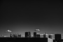 Sky is the limit (Mikhail Korolkov) Tags: city sky clouds silhouettes blackandwhite monochrome linnahall tallinn estonia