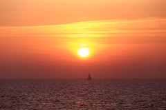 Sailing at sunset - Tel-Aviv beach - Follow me on Instagram:  @lior_leibler22 (Lior. L) Tags: sailingatsunsettelavivbeach sailing sunset telaviv beach israel sun sea seascapes sailboat