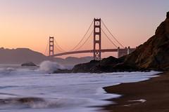 Golden Gate Bridge from Baker Beach (Rodney Topor) Tags: bakerbeach bridge california dusk goldengatebridge sanfrancisco usa xt2 xf35mmf2