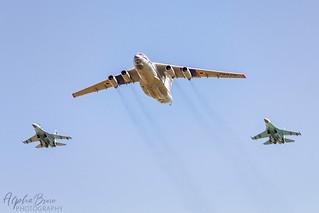 Ukranian AF IL76 & Su-27 12/07/18 EGVA