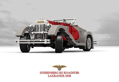 Duesenberg SSJ Roadster (1936( (lego911) Tags: duesie duesenberg ssj sj indiana 1936 1930s classic vintage oldtimer supercharged swb luxury playboy acd auto car moc model miniland lego lego911 ldd render cad povray usa america american chrome twotone celebrity garycooper clarkgable roadster speedster convertible