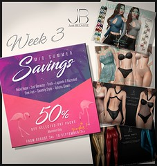 Mid Summer Sale - Week3 - Just Because! (Just BECAUSE_SL) Tags: sale summer dress shirt pants swimsuit fashion clothing 50 off event mainstore