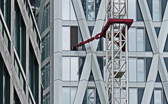 x x x bracket x x x (christikren) Tags: bracket building architecture christikren facade panasonic windows crane newbuilding london canarywharf abstract again structures buildings tower flickr