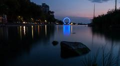 Siófok by night (miklos.mekis) Tags: siófok balaton photography nightphotography canonphotography canon450d longexposure ferrywheel lights watermirror