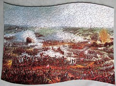The Battle of Waterloo (pefkosmad) Tags: waddingtons scroll qualitex thebattleofwaterloo wheath vintage jigsaw puzzle hobby leisure pastime complete painting art secondhand used