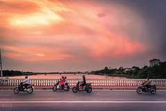 Sunset over the Perfume River, Huế, Vietnam. (KSAG Photography) Tags: vietnam southeastasia asia sunset river hue landscape sky scooter city urban maritime nikon september 2017 wideangle