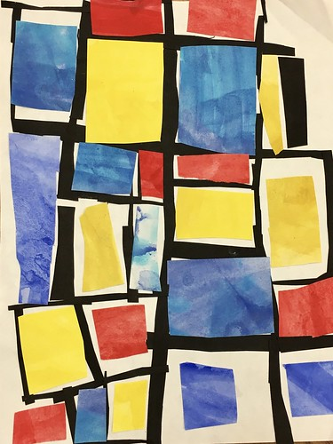 """Every year I get new favorites with this #kindergarten #pietmondrian  inspired painted paper gridded #collage ❤️❤️  They have such an amazing lyricism at this age that I admire so much. Want em all! • <a style=""""font-size:0.8em;"""" href=""""http://www.flickr.com/photos/57802765@N07/43847579542/"""" target=""""_blank"""">View on Flickr</a>"""