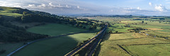 66761 and its shadow at Settle Junction (robmcrorie) Tags: 66761 class 66 gbrf doncaster arcow quarry settle junction river ribble train rail railway carlisle yorkshire drone phantom 4 railfan freight