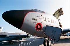 Boeing KC-135 Stratotanker (dpsager) Tags: 2018 airventure dpsagerphotography eaa eaaoshkoshairshow eos1v film fujisuperia100 oshkosh wisconsin aircraft airplane airshow boeingkc135stratotanker kc135 osh18