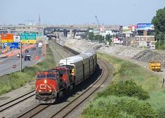 TankTrain up front (Michael Berry Railfan) Tags: cn canadiannational cn401 train freighttrain montreal montrealsub quebec ge generalelectric dash9 dash944cw dash8 dash840cw cn2544 cn2145