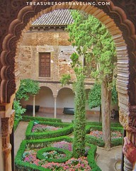 One of the many beautiful courtyards within the gardens of the Alhambra, which is a palace and fortress complex located in Granada, Spain. The architecture, the gardens and the backdrop of the Sierra Nevada Mountains in the background make this fortress a (TreasuresOfTraveling) Tags: travelgram travelphotography bestplacestogo fountain alhambra traveltheworld guyswhotravel granada españa wanderlust gaytraveler travelblog españaviaje travelblogger globetrotter discoverearth fantasticearth worldtraveler europe andalusia followmefaraway treasuresoftraveling theglobewanderer spain worldtravel travelspain travelphotos passportstamps tourtheplanet garden