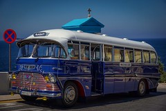 The traditional Malta Bus ... still in use (Ula P) Tags: bus colorful vacation blue old malta sony sonyalpha explore colour