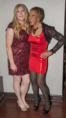 Deb & Kacey At Keystone! (kaceycd) Tags: crossdress tg tgirl lycra spandex wetlook metallic minidress lace stretchlace shrug jacket pantyhose pumps peeptoepumps opentoepumps highheels stilettopumps stilettoheels sexypumps stilettos s vc vanityclub sisters