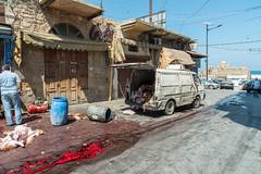 Slaughter (stefanos-) Tags: travelling backpacking butcher meat lebanon mediterranean butchering sidon saida arab middleeast