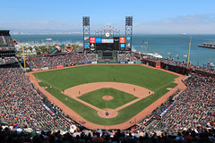AT&T Park - San Francisco, CA (russ david) Tags: ca att park san francisco california baseball stadium field mlb mccovey cove bay diamondbacks giants arizona